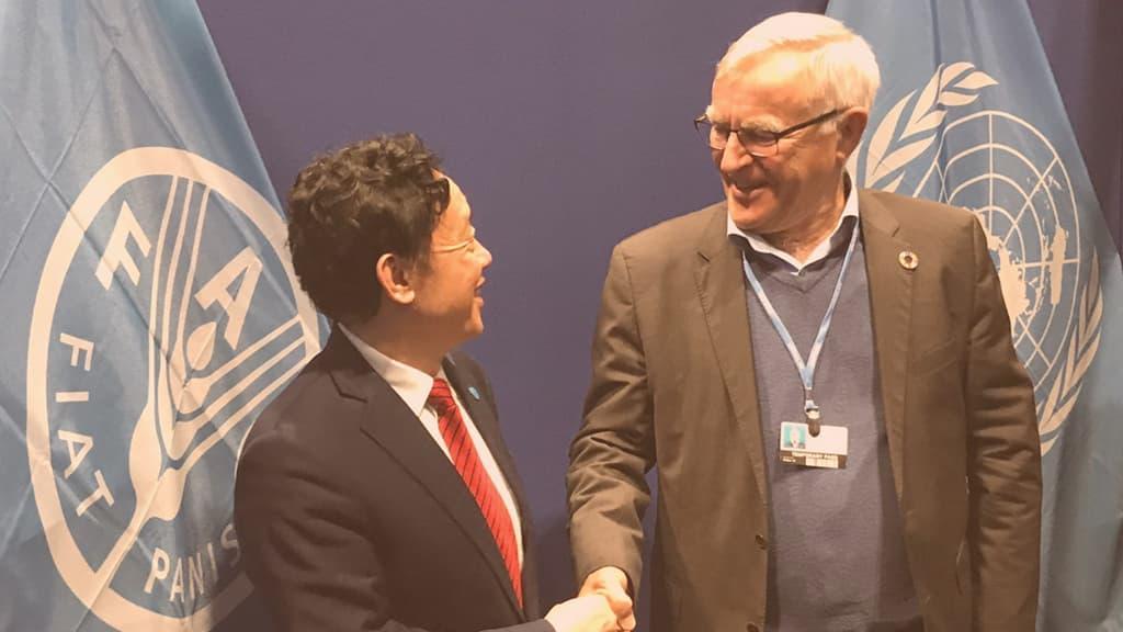 Encuentro del director general de la FAO con el CEMAS diciembre 2019